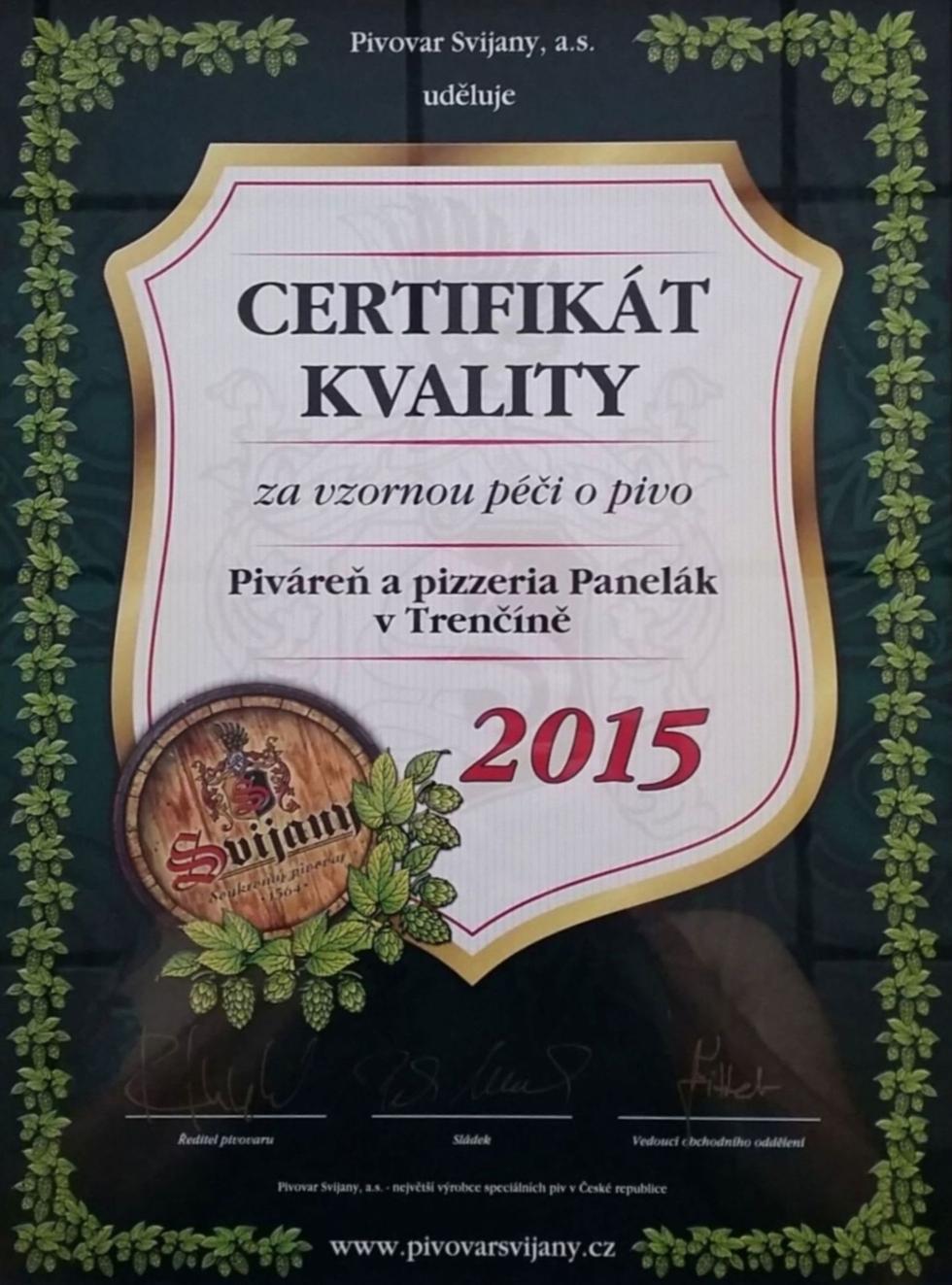 Získali sme certifikát kvality piva